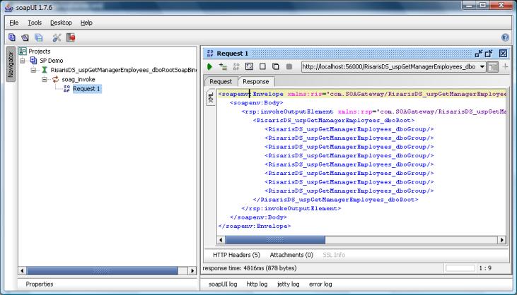 Using Portus to invoke stored procedures